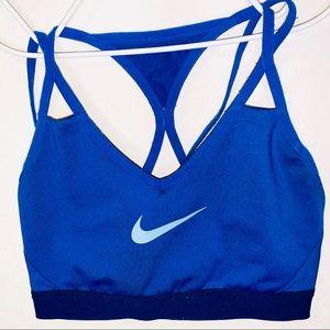 Nike sports bra women's medium blue cross cross